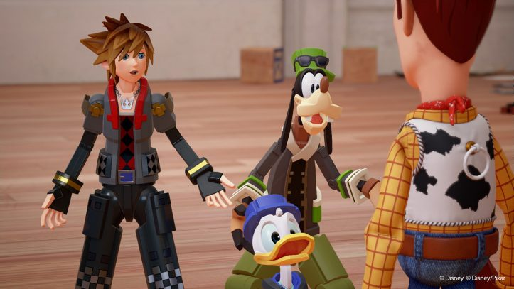 Kingdon Hearts III - Sora meets Woody