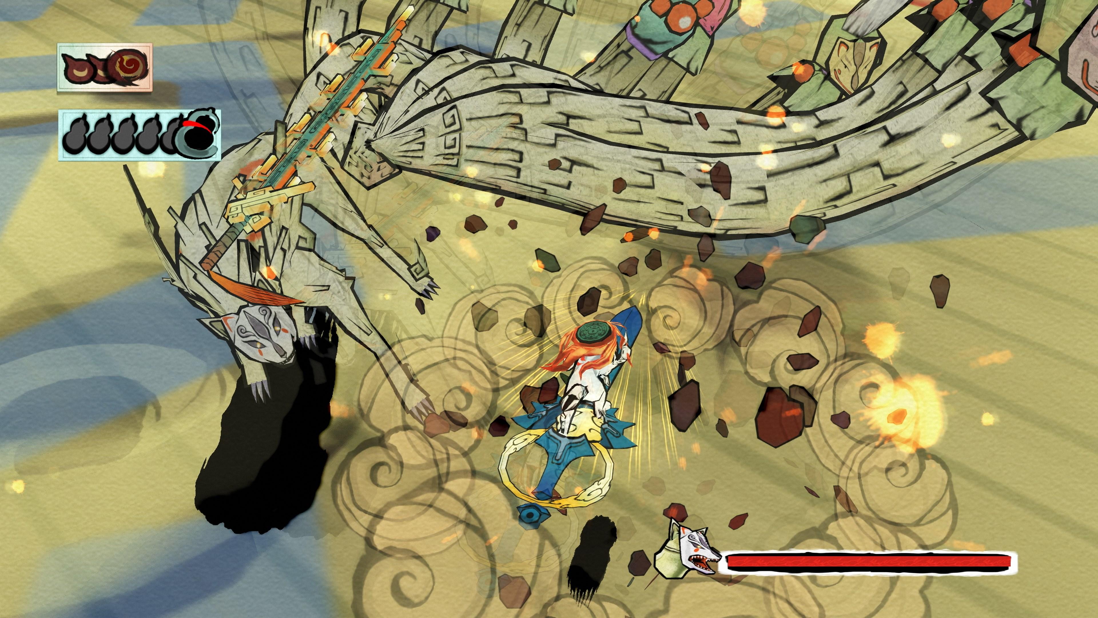 Okami HD - boss fight 2