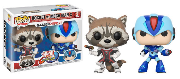 Funko Marvel v Capcom Infinite Rocket vs Mega Man