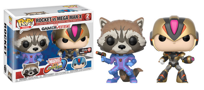 Funko Marvel v Capcom Infinite Rocket vs Mega Man Variant