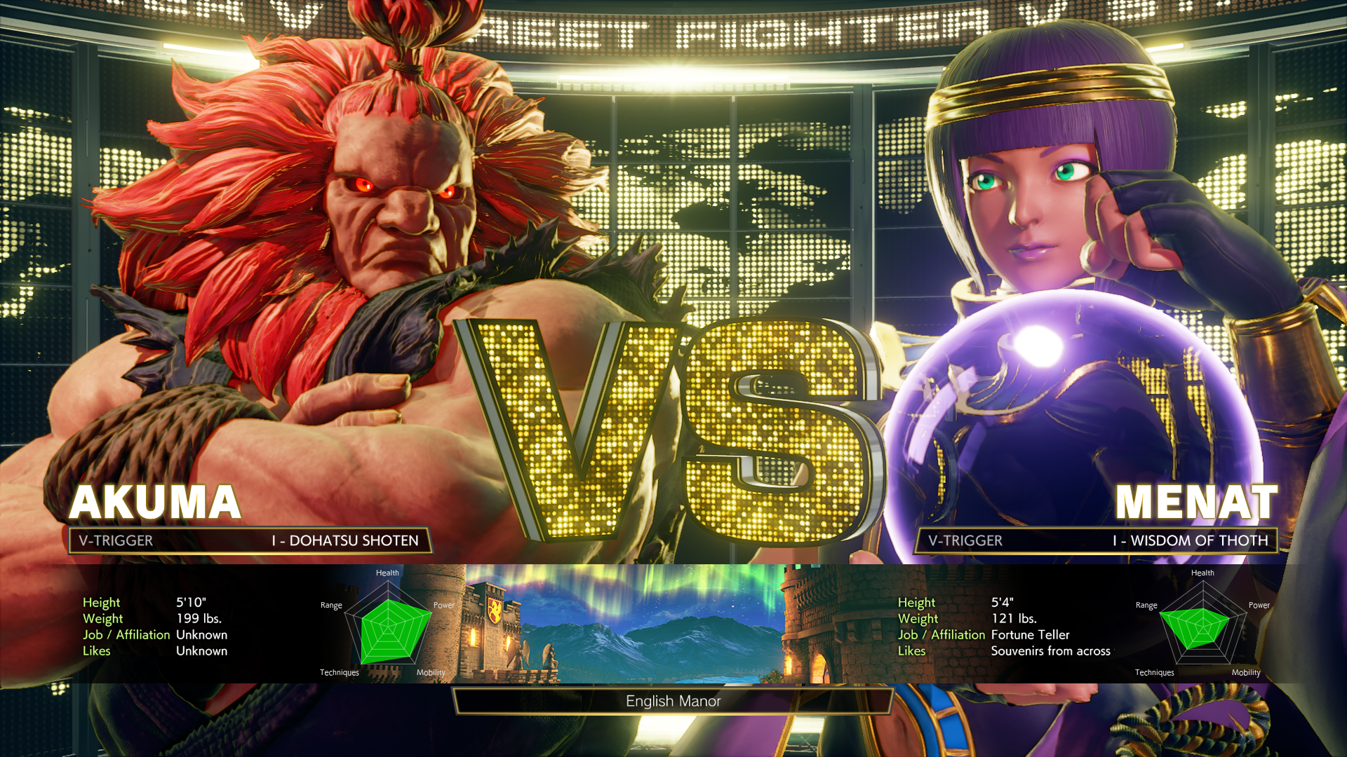 Street Fighter V: Arcade Edition - Akuma vs. Menat
