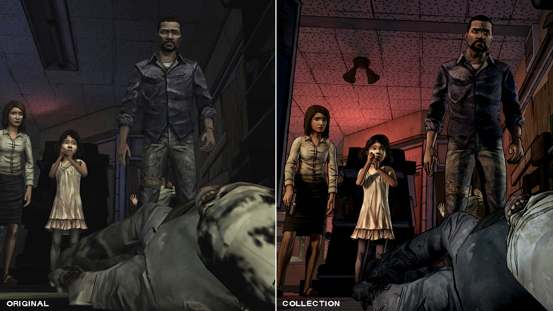 The Walking Dead - comparison