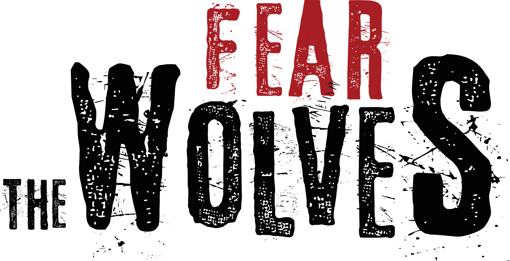 Fear the Wolves - logo-black and red