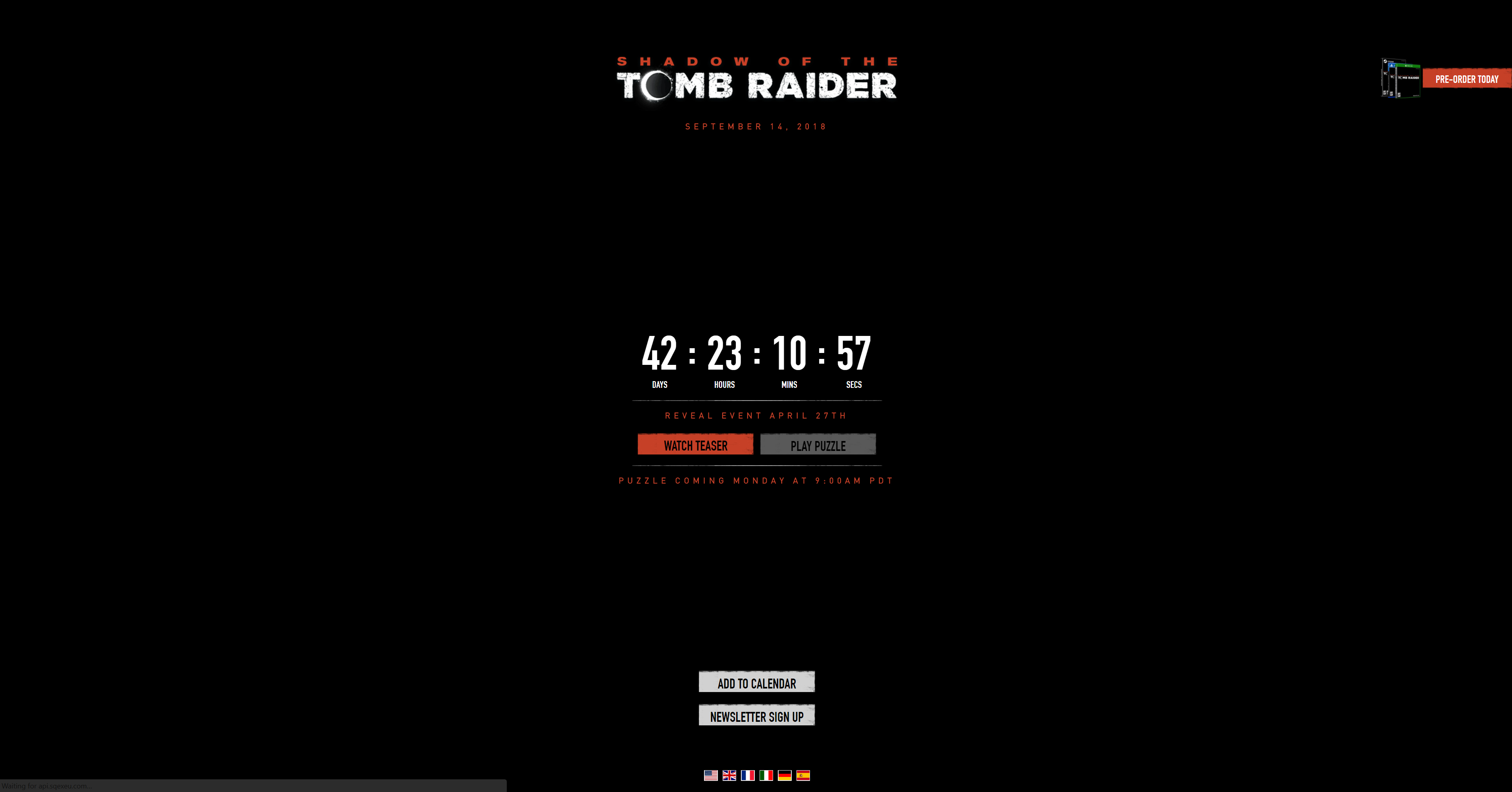 Shadow of the Tomb Raider - TR website