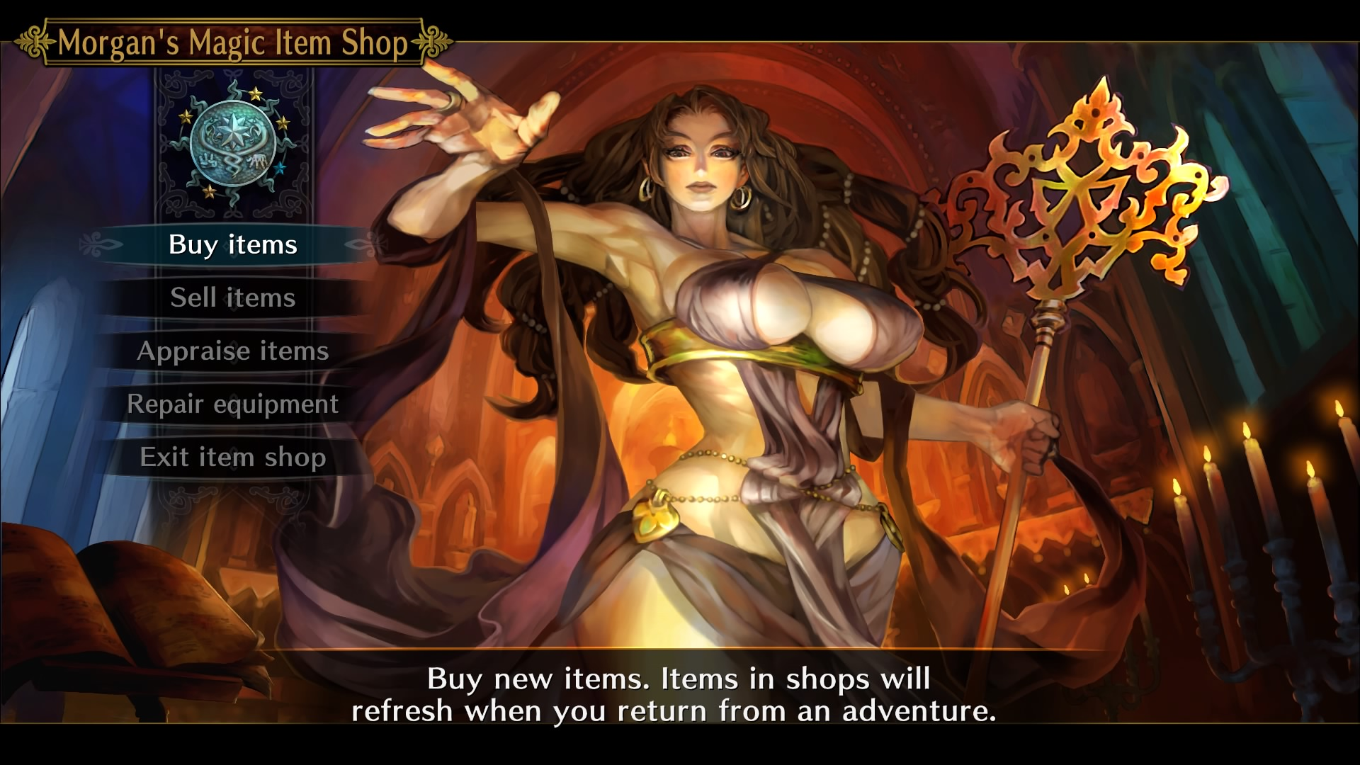 Dragon's Crown Pro - shop mistress