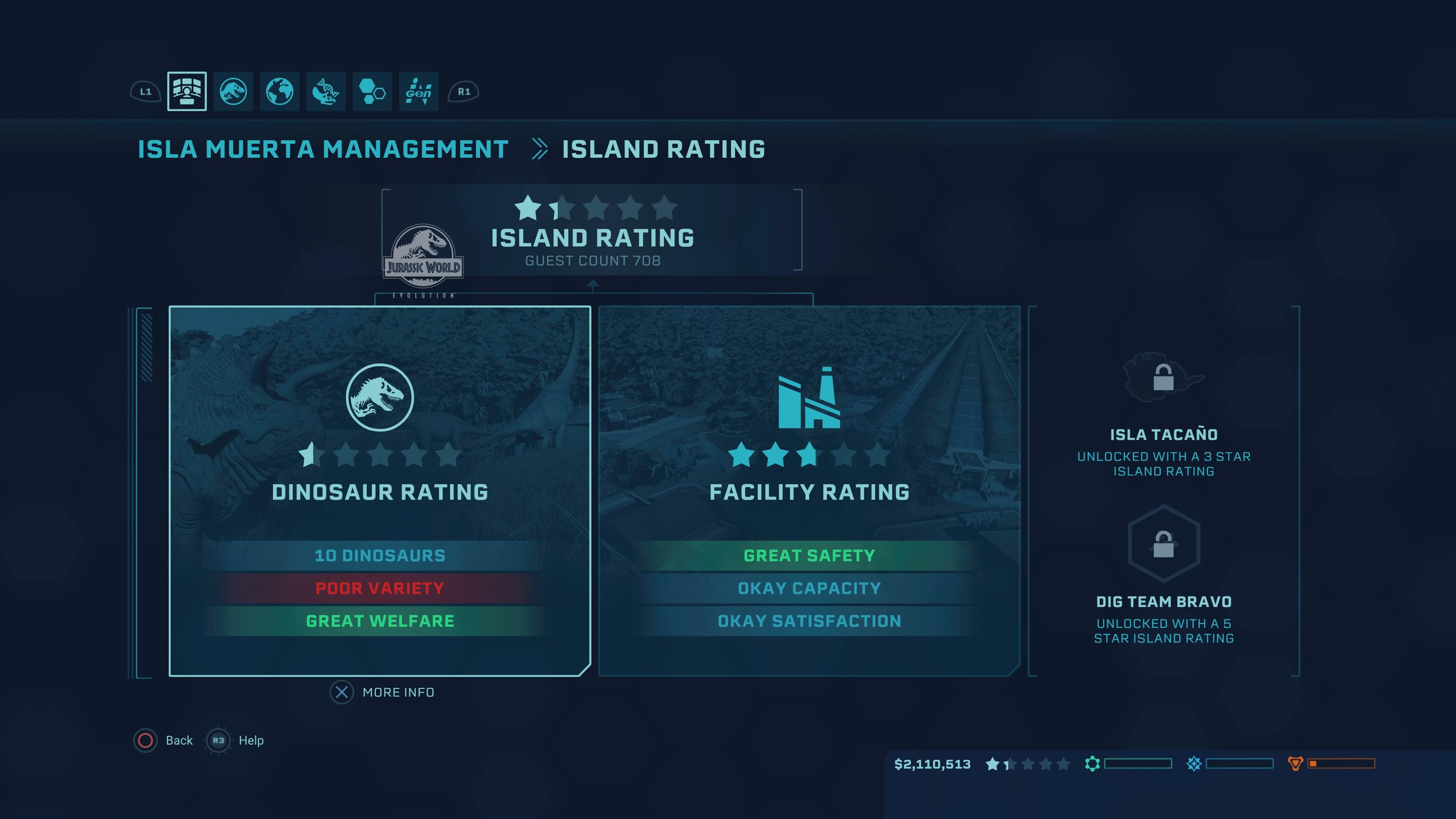 Jurassic World Evolution - rating