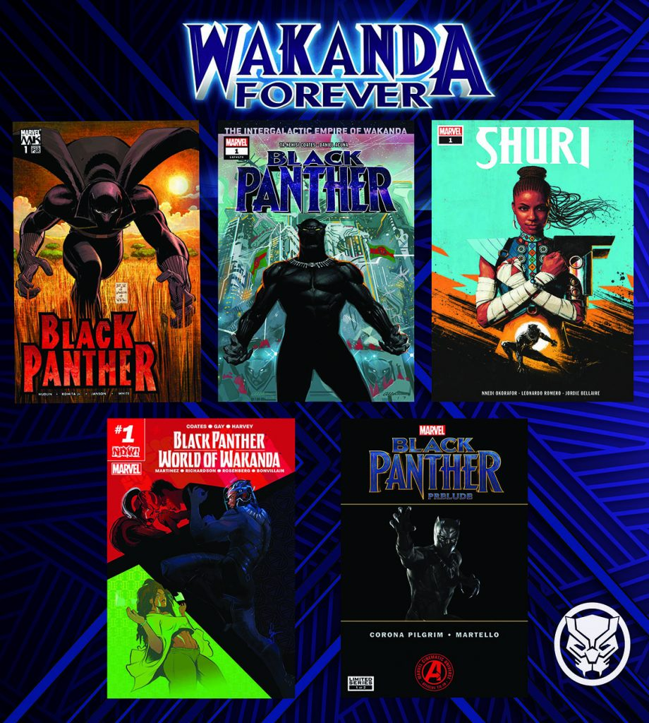 Wakanda Forever Cover Collage