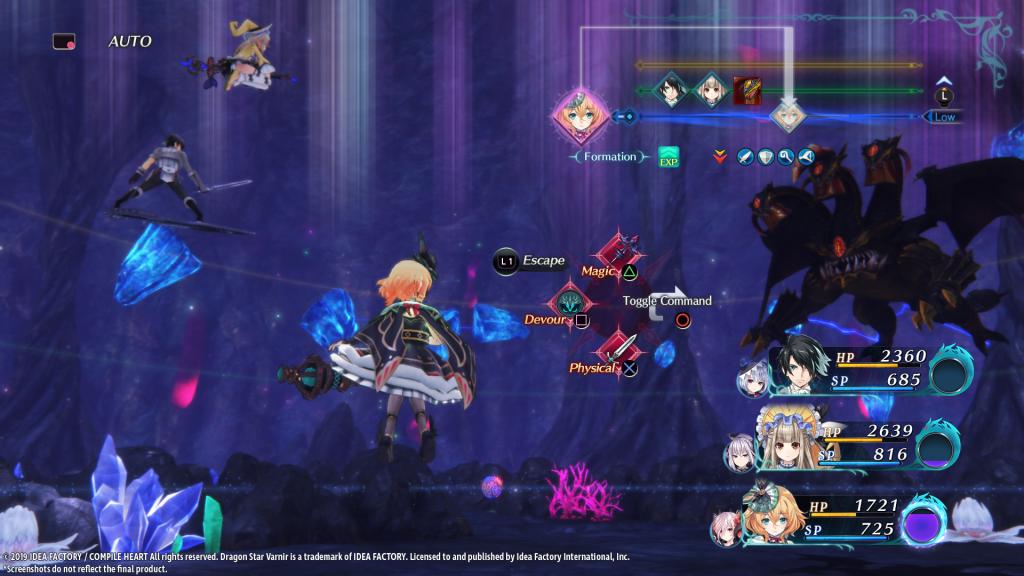Dragon Star varnir - battle Screen