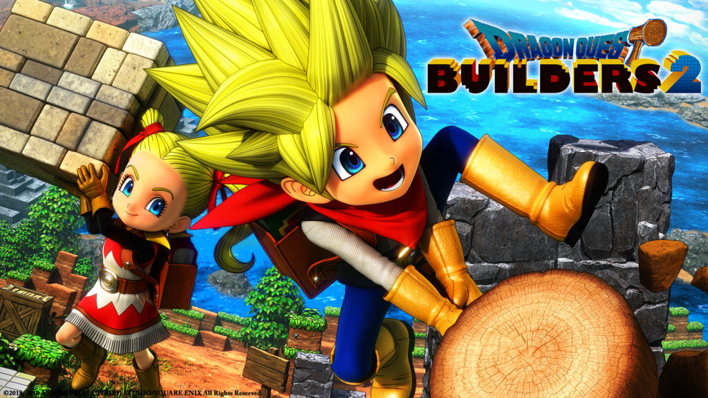 Dragon Quest Builders 2 - key art with logo