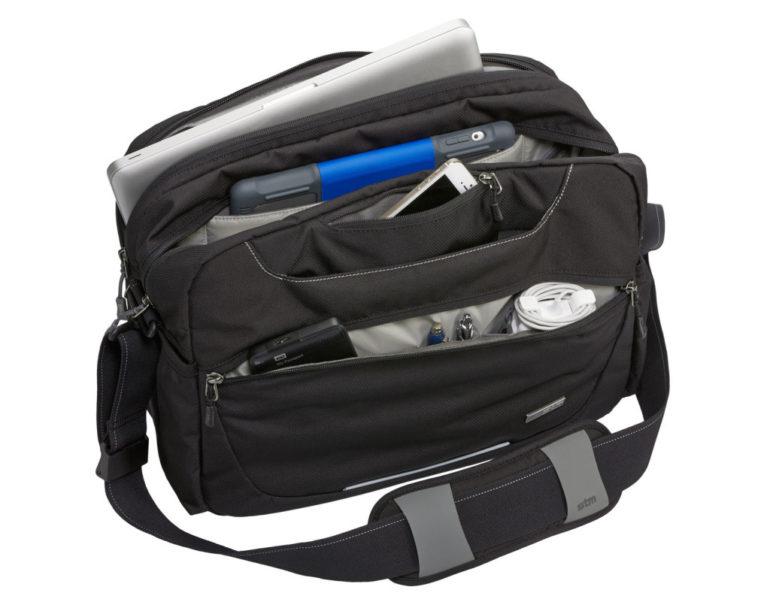 quantum laptop shoulder bag merched black large