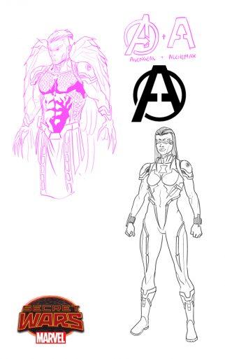 Avengers2099 Hawkeye BlackWidow
