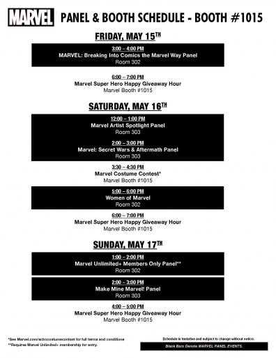 ACBC 2015 Marvel Schedule Page 2