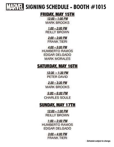 ACBC 2015 Marvel Schedule Page 1