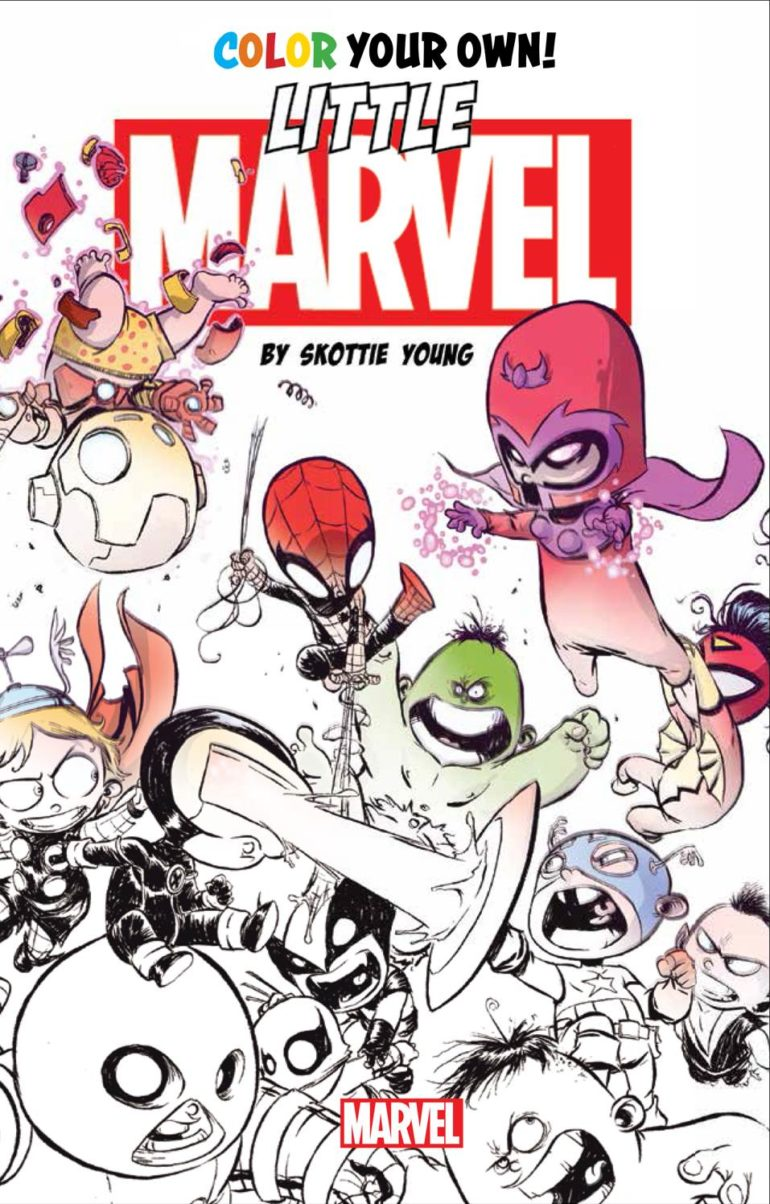Little Marvel by Skottie Young Coloring Book Cober