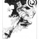 Uncanny Avengers 11 Steranko Variant Black and White