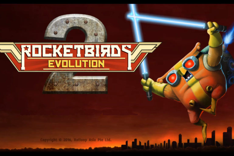 Rocketbirds 2: Evolution - Start screen
