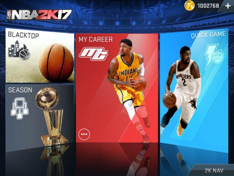 2KSMKT NBA2K17 MOBILE SCREENS MAIN MENU 2732x2048
