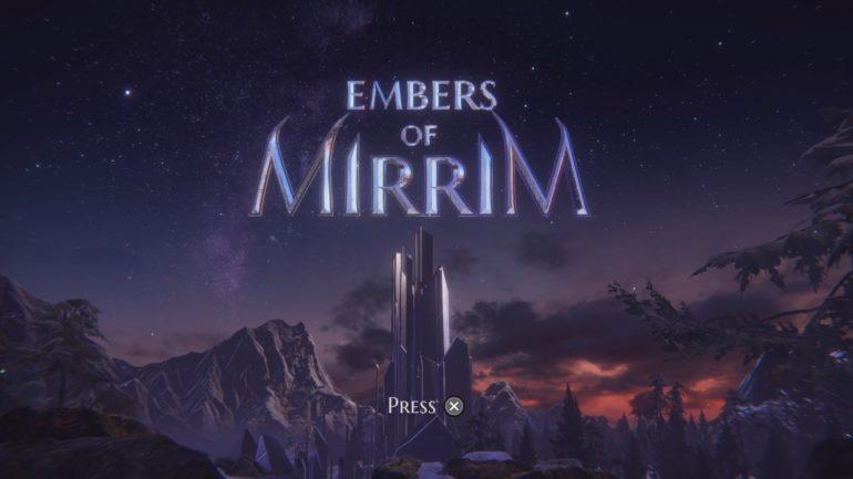 Embers of Mirrim - start screen
