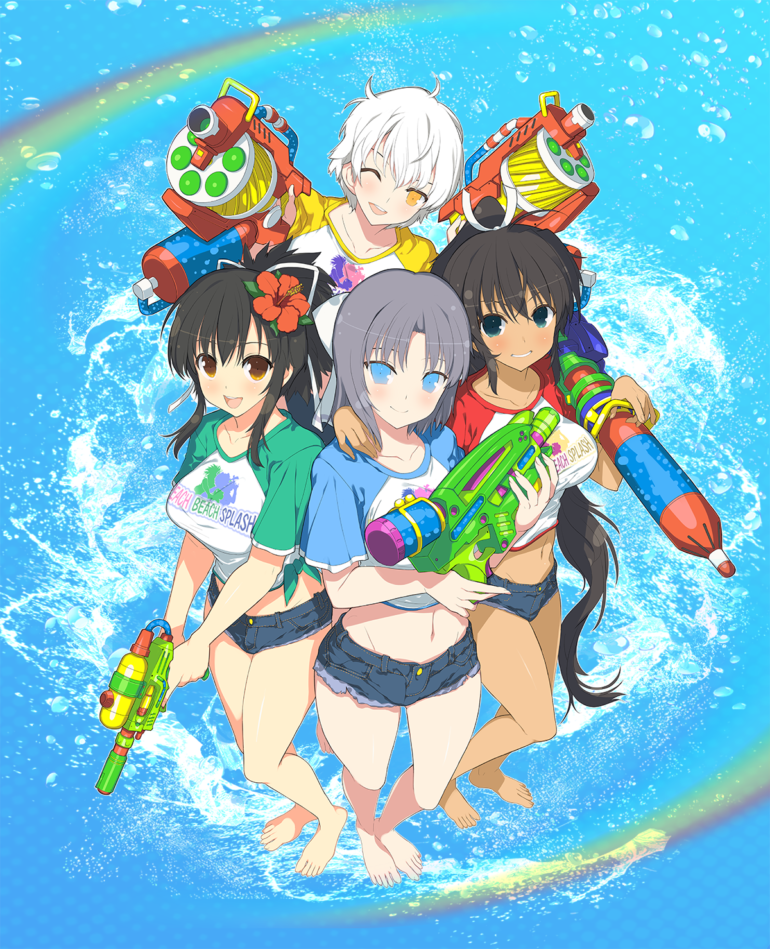 Senran Kagura Peach Beach Splash - key art