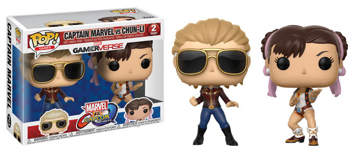 Funko Marvel v Capcom Infinite Captain Marvel vs Chun Li