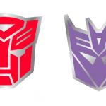 Autobots and Decepticons Symbol Pin