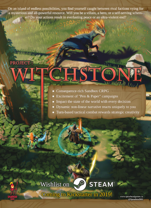 Project Witchstone - postcard