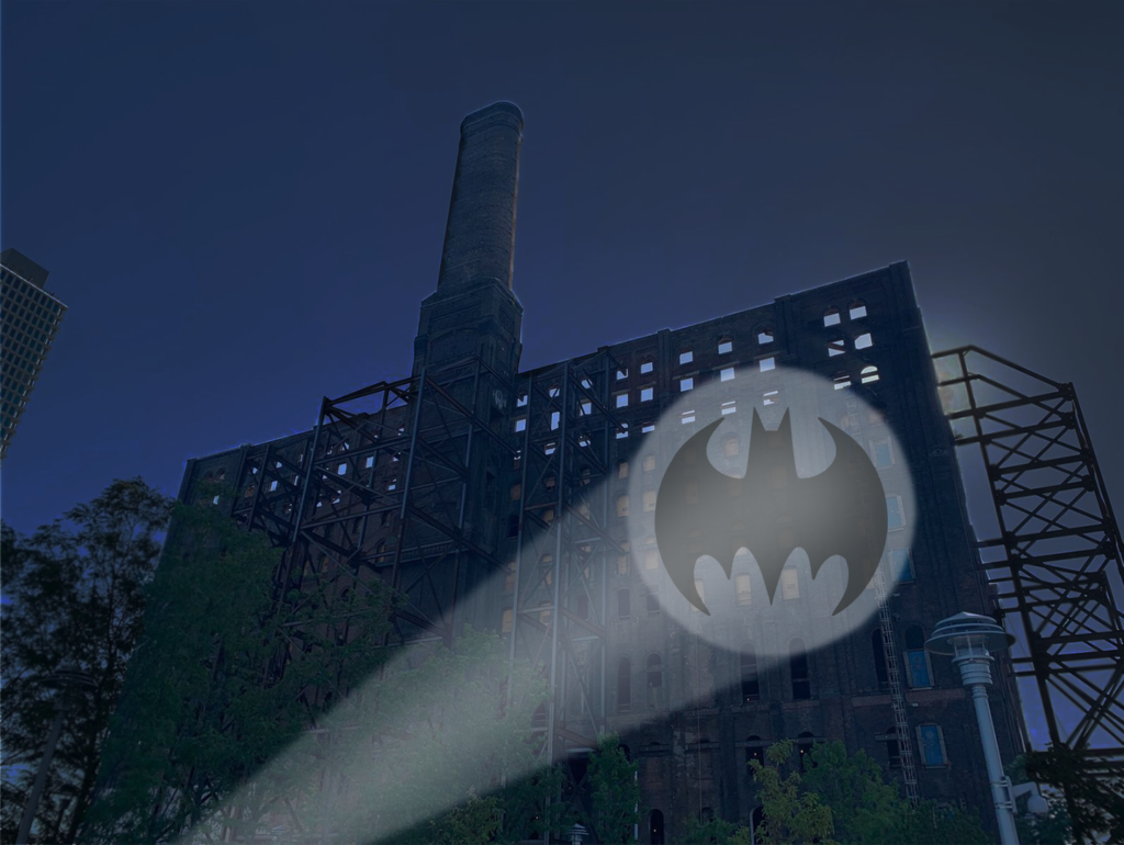 Domino Bat Signal Rendering