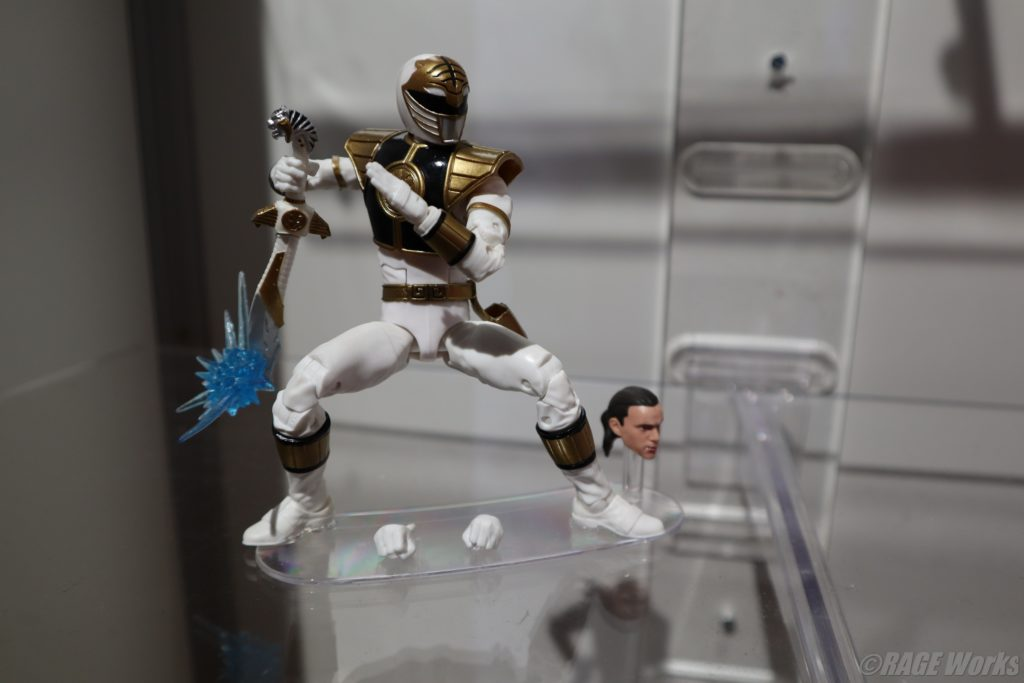 Tommy Oliver-White Ranger from Power Rangers Lighting Collection by Hasbro