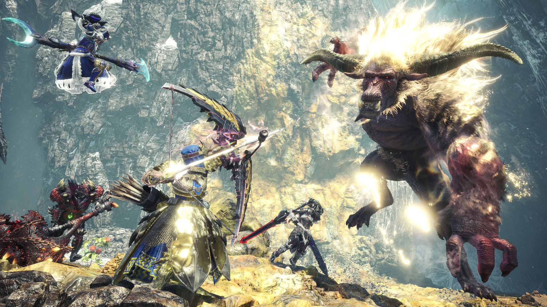 Monster Hunter World: Iceborne - Furious Rajang fight