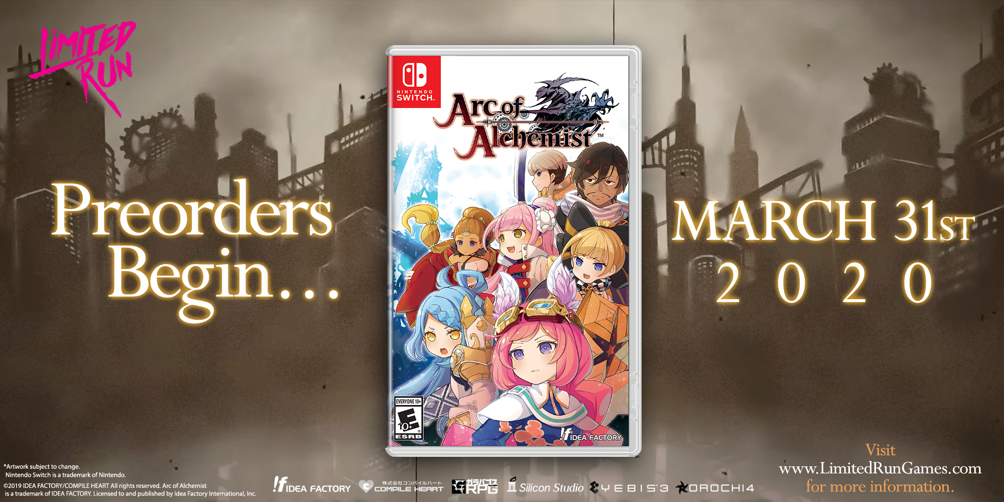 Arc of Alchemist - Switch physical