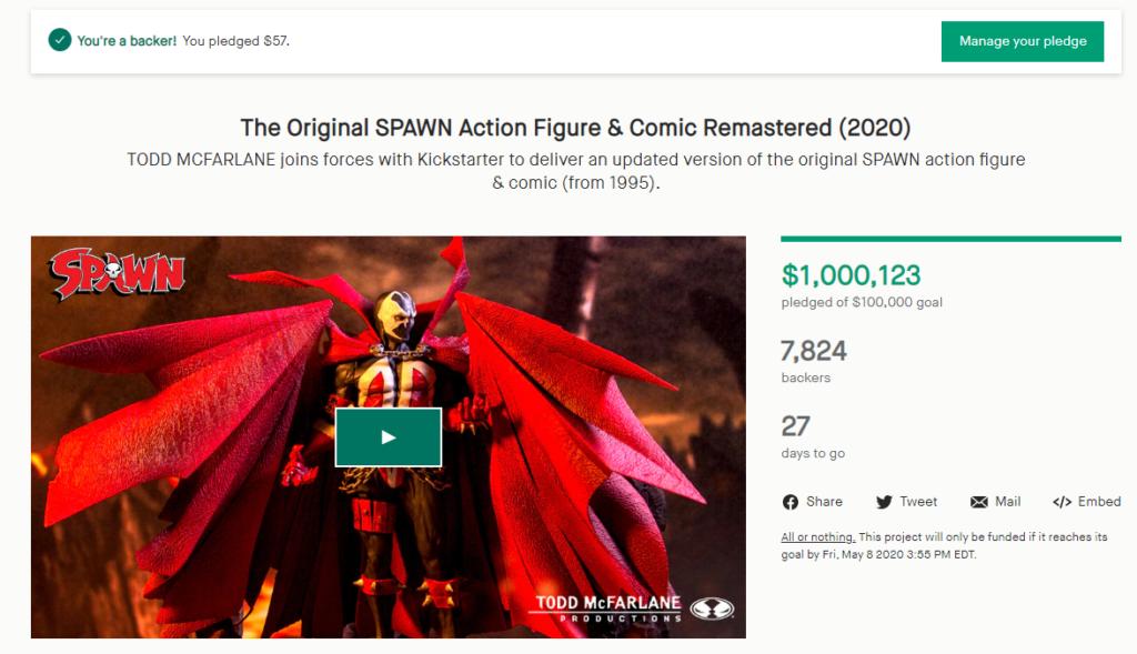 Spawn Kickstarter 1Mill