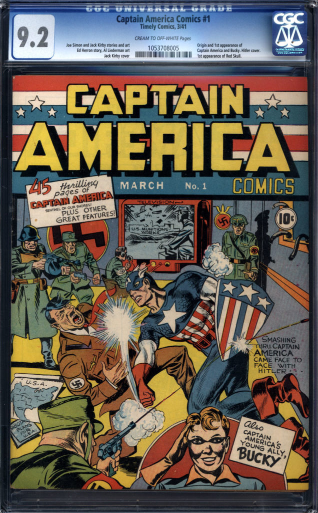 captain america comics 1 cgc9.2 343000 1