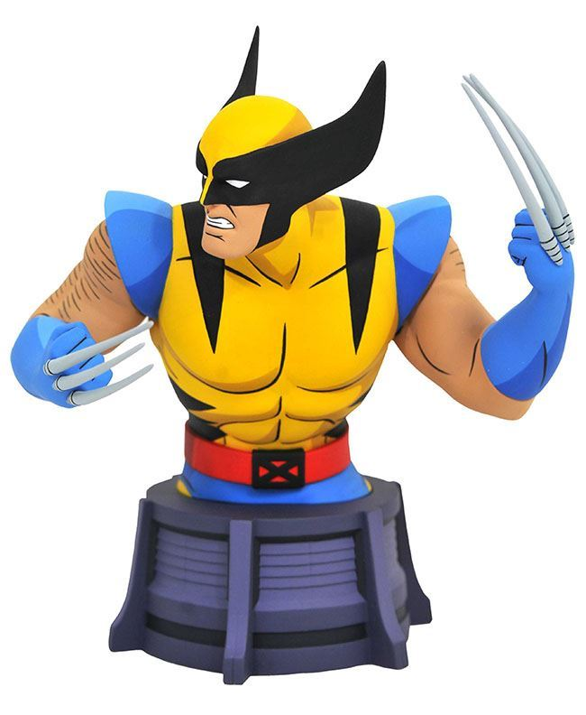 0005570 marvel animated x men wolverine bust