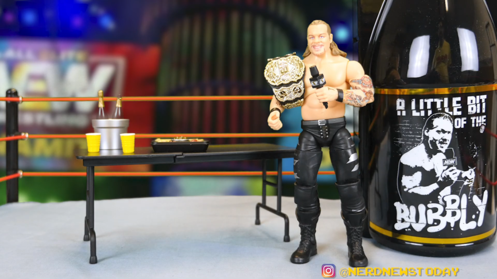 AEW Chris Jericho A Little Bit of the Bubbly Figure Review FIRST EVER AEW FIGURE 00 22 58