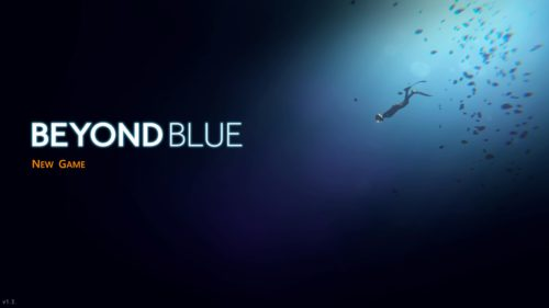Beyond Blue - start screen