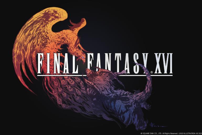 Final Fantasy XVI - black logo