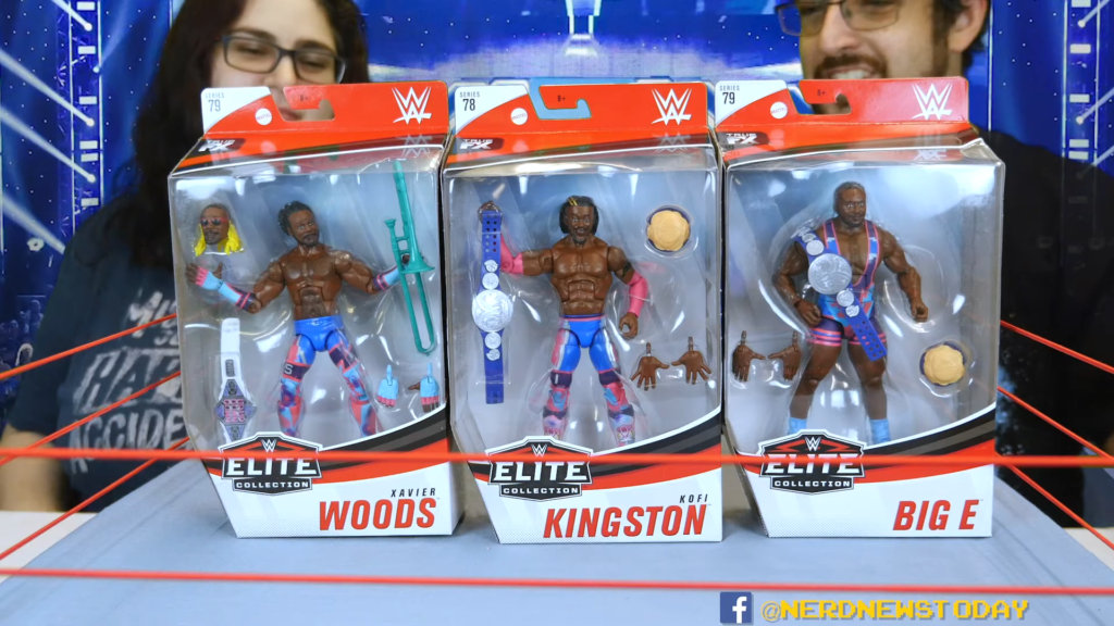 WWE Elite 78 79 New Day Figures Review Kofi Big E Xavier Woods 00 02 20