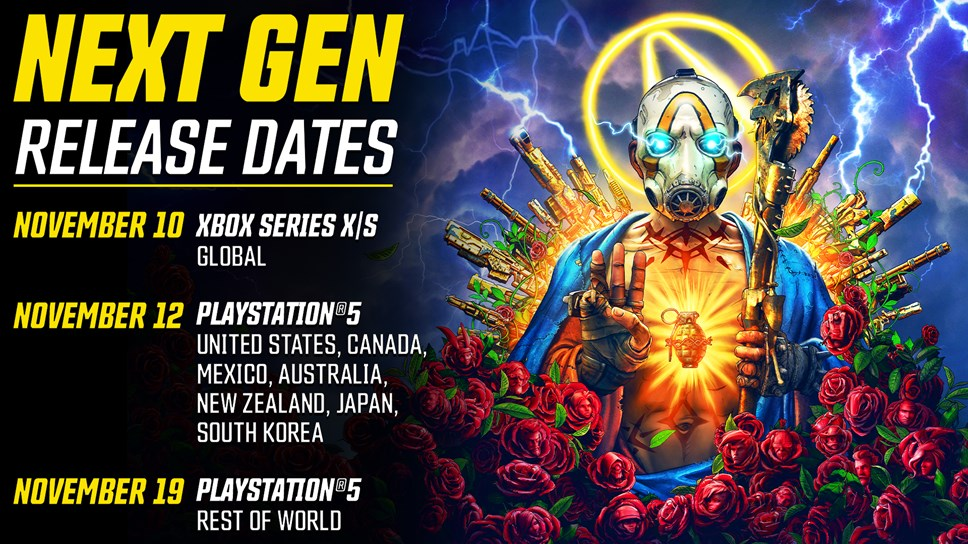 Borderlands 3 - launch schedule