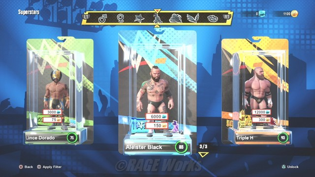 WWE 2K Battlegrounds locked roster