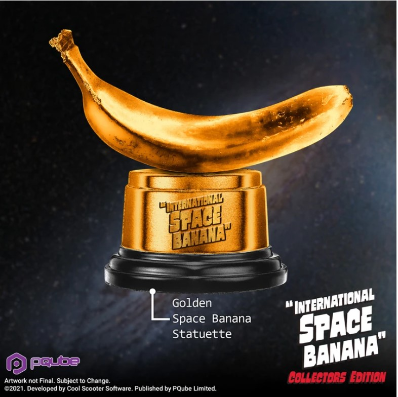 International Space Banana - Golden Banana Statue